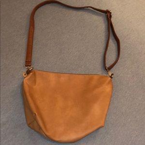 Tan Genuine Leather Shoulder Bag